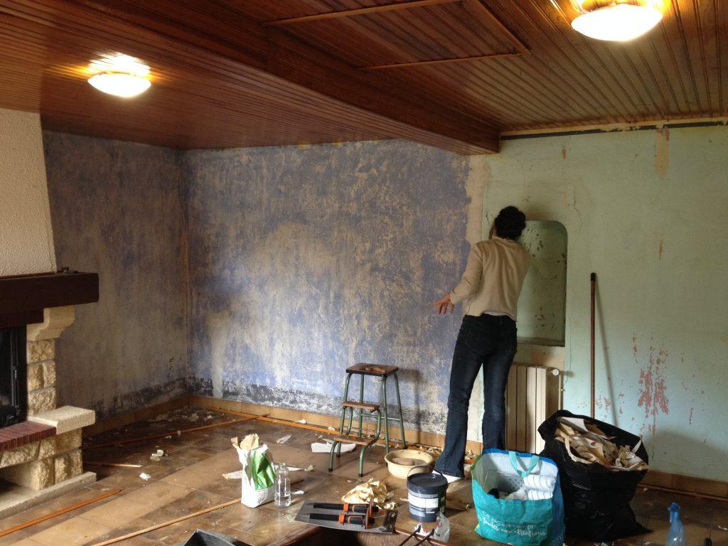 travaux de rénovation de la salle de stage